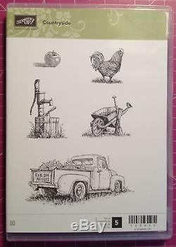 Stampin Up RETIRED Countryside Clear Mount Stamp Set Country Farm Harvest Theme
