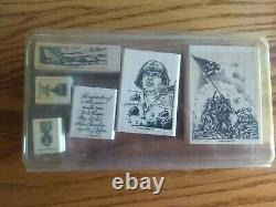 Stampin' Up Rare Retired 2002 Courage & Honor Military Veteran set of 6