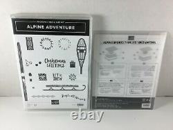 Stampin' Up! Retired ALPINE ADVENTURE stamp set & ALPINE SPORTS Thinlits Dies
