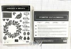 Stampin' Up! Retired Arrange a Wreath Stamp set + Wreath Builder Dies
