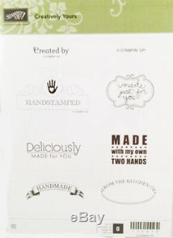 Stampin Up Retired Creatively Yours & Curly Cute Clear Mount (13) Stamps Set