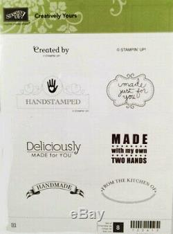 Stampin Up Retired Creatively Yours Stamp Set Excellent Scrapbooking Cardmaking