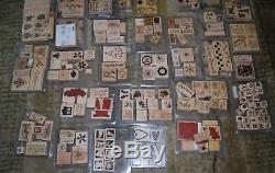 Stampin Up Retired Lot of 400+ Stamps 50 sets in clam shell boxes