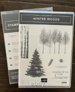 Stampin Up Retired Winter Woods Stamp Set & In the Woods Dies Christmas, Trees