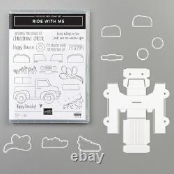 Stampin Up Ride With Me Stamp Set & Sizzix Truck Ride Framelits Dies NEW