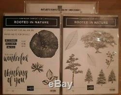 Stampin Up Rooted In Nature 1&2 Stamp sets & Nature's Roots Framelits Dies NEW