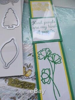 Stampin Up Rooted In Nature 1&2 Stamp sets & Nature's Roots Framelits Dies gifts