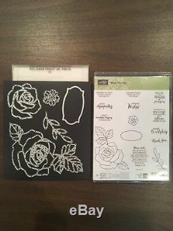 Stampin Up! Rose Wonder Stamp Set withRose Garden Think its Die