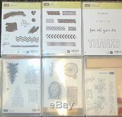 Stampin Up Rubber Stamp Lot 8 Sets Tape it Filmstrip Tree Sentimental Art Thanks
