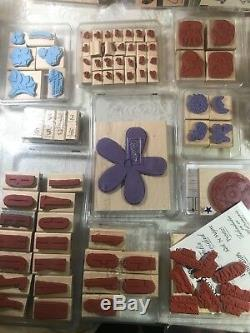 Stampin Up Rubber Stamp Lot Of 29 Sets
