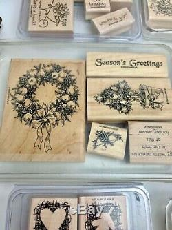 Stampin Up! Rubber Stamp Sets Fourteen (14) Misc. Boxes with Vintage & Retired