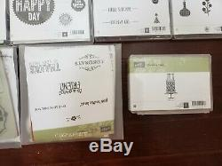 Stampin Up Rubber Stamp Sets Lot