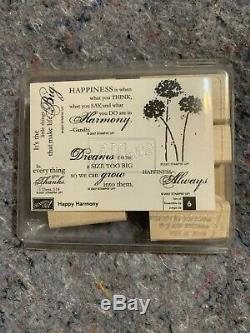 Stampin' Up! Rubber Stamp Sets- Lot of 10 Retired Unmounted Wood Block