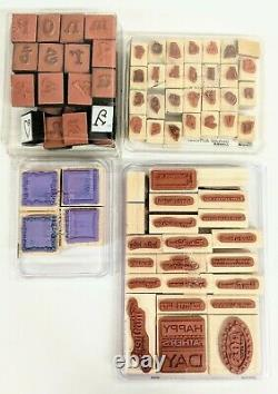 Stampin' Up Rubber Stamp Sets Retired Assorted +3 Paper Stamps Lot of 140 +