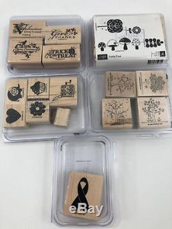Stampin Up Rubber Stamp Wood Mount Set LOT of 20 Sets Retired Assorted Themes #1