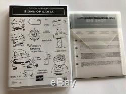 Stampin' Up! SIGNS OF SANTA Stamps Set & SANTA'S SIGNPOST FRAMELITS Bundle