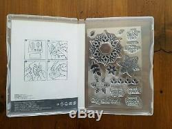 Stampin Up SNOW IS GLISTENING & HAPPINESS SURROUNDS Stamp Sets & SNOWFALL Dies