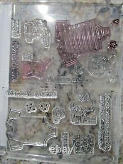 Stampin Up SOMETHING FOR BABY & MADE WITH LOVE Stamp Sets BABY'S FIRST Framelits