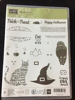 Stampin Up! SPOOKY CAT Stamp Set & CAT Punch & SPOOKY NIGHTS DSP NEW