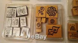 Stampin Up! STAMPS LOT OF 9 SETS RUBBER STAMPS CLEAN lot #5