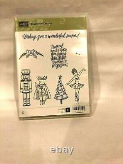 Stampin Up SUGARPLUM DREAMS Nutcracker Ballerina Set 8 Christmas Cling RARE