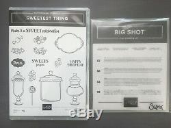 Stampin Up SWEETEST THING Stamp Set & JAR OF SWEETS Framelits Dies NEW Bundle