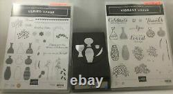 Stampin Up Set of 3 Vases Bundle Varied Vases, Vibrant Vases, Vase Punch Excelle
