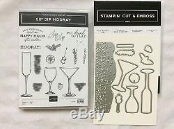 Stampin Up! Sip Sip HoorayNEW stamp set & Sip & Celebrate diesRetired and Rare