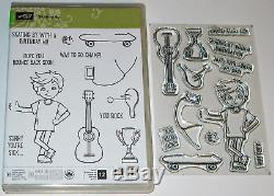 Stampin Up! Skating By Set of 12 Stamps NEW