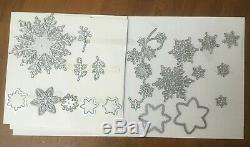 Stampin Up Snow is Glistening Stamp Set Snowfall Thinlits Bundle Dies READ DESC