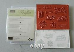 Stampin' Up! Snowflake Sentiments Stamp Set + Swirly Snowflakes Thinlits NEW