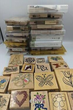 Stampin' Up Stamp 153 LOT Set Spring Floral Plants Sets loose stamp collection
