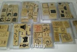 Stampin' Up Stamp Sets (Huge Collection) 1 Lot 38 sets bundle htf ink stamps