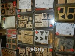 Stampin Up Stamp Sets Huge Lot over 400 stamps 58 pkgs