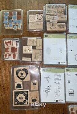 Stampin Up Stamp Sets Lot Of 23