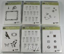 Stampin Up Stamp Sets Lot of 47 Holiday Verses Nature Hostess More New Condition
