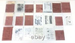 Stampin Up Stamp Sets New Rubber Clear Photopolymer Lot Of 20