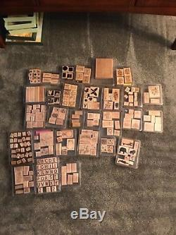 Stampin Up Stamp Sets, Retired, Wood Blocks, Complete Sets, Used