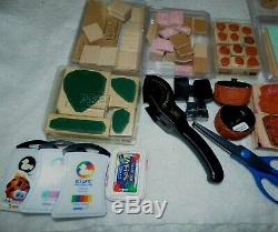 Stampin Up Stamping Wood, 9 Sets, Numbers, Letters, Holidays, More, Deluxe Lot