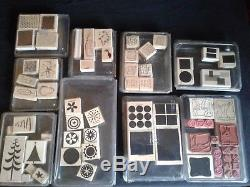 Stampin' Up Stamps. Huge Lot 35 sets plus 7 rollers 4 handles and ink cartridges