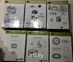 Stampin Up Stamps Sizzix Die Lot Sets 15 Sets Total Scrapbooking Card Making