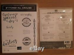 Stampin Up Stitched All Around Stamp Set & Stitched Labels Framelits Dies