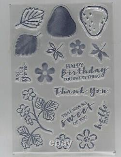 Stampin' Up! Sweet Strawberry Bundle 2 Stamp Sets, Punch & DSP NEW. FREE Ship
