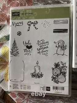 Stampin Up Ultimate Jars Love Haunts Sweet Cheer Craft Stamps Dies Set Lot New