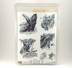 Stampin Up Under the Sea Stamp Set BRAND NEW Dolphin Whale Turtle Octopus Ocean
