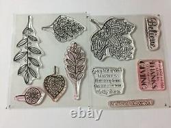 Stampin' Up! VINTAGE LEAVES & LIGHTHEARTED LEAVES Stamp Set & LEAFLETS Dies