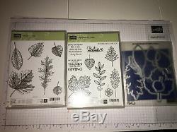 Stampin' Up VINTAGE LEAVES, LIGHTHEARTED LEAVES stamp set & LEAFLETS maple oak