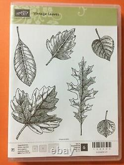 Stampin' Up! VINTAGE LEAVES Stamp Set & LEAFLETS Dies. Autumn