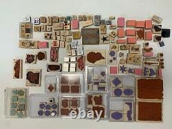 Stampin' Up! Various Brands & Sizes Wood Mounted Rubber Stamp Sets Lot Of 145 +