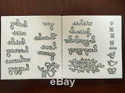 Stampin' Up! WELL SAID Cling Stamp Set & WELL WRITTEN Framelits Dies Bundle NEW
